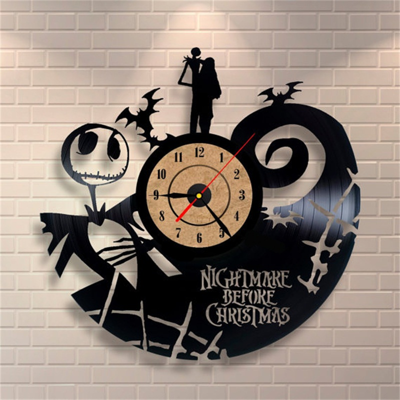 2019 Hot Vinyl Record CD Wall Clock Antique Style Film Theme Art Clock Quartz Watch Saat Home Decor