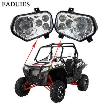 FADUIES ATV/UTV Led headlight  for Polaris rzr kit Left / Right High Low Beam Led Headlamp For 2011-2014 POLARIS RZR XP 900