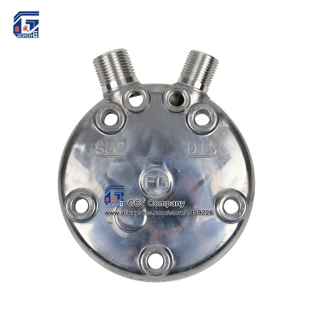 A/C Compressor Rear Back Head FL / FN VERTICAL Charge Ports 3/4'' 7/8'' O-ring for Sanden SD 507 SD 508 / 510 / 5H14