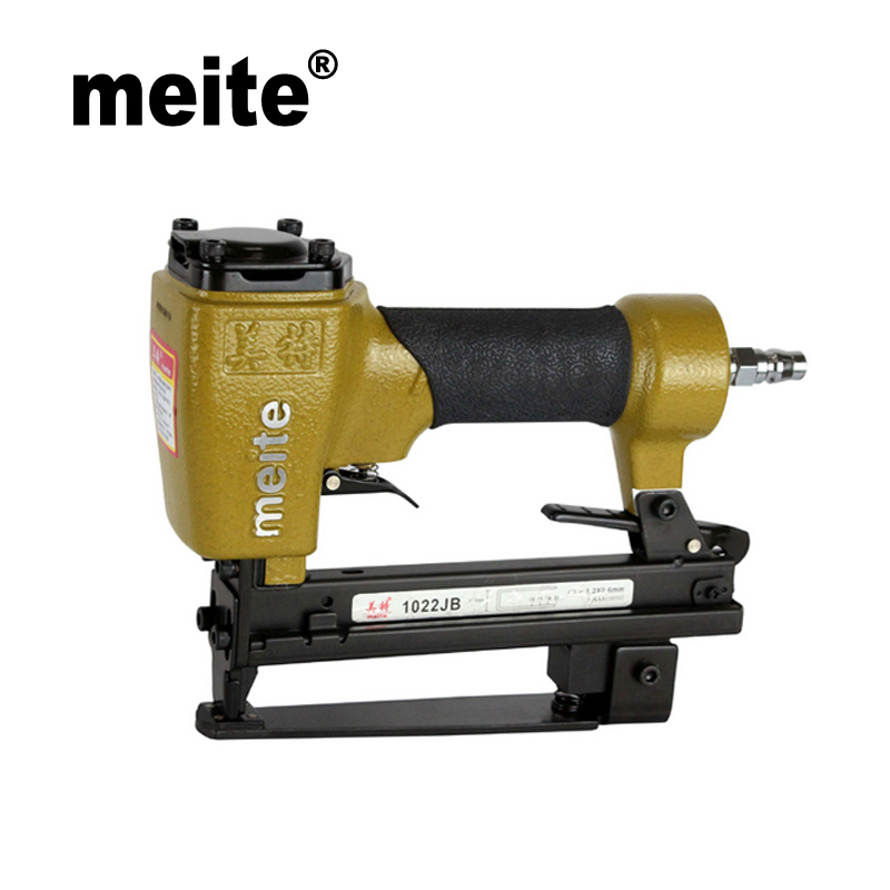 Meite 1022JB 7/16(11.2MM) Crown 20 Gauge air gun nailer stapler pneumatic fine wire motorcycle seat stapler Oct.24 Update tool meite bw120 length 48 5mm heat insulating nailer pneumatic air nailer gun for fixing outer wall in cold places sep 9 update