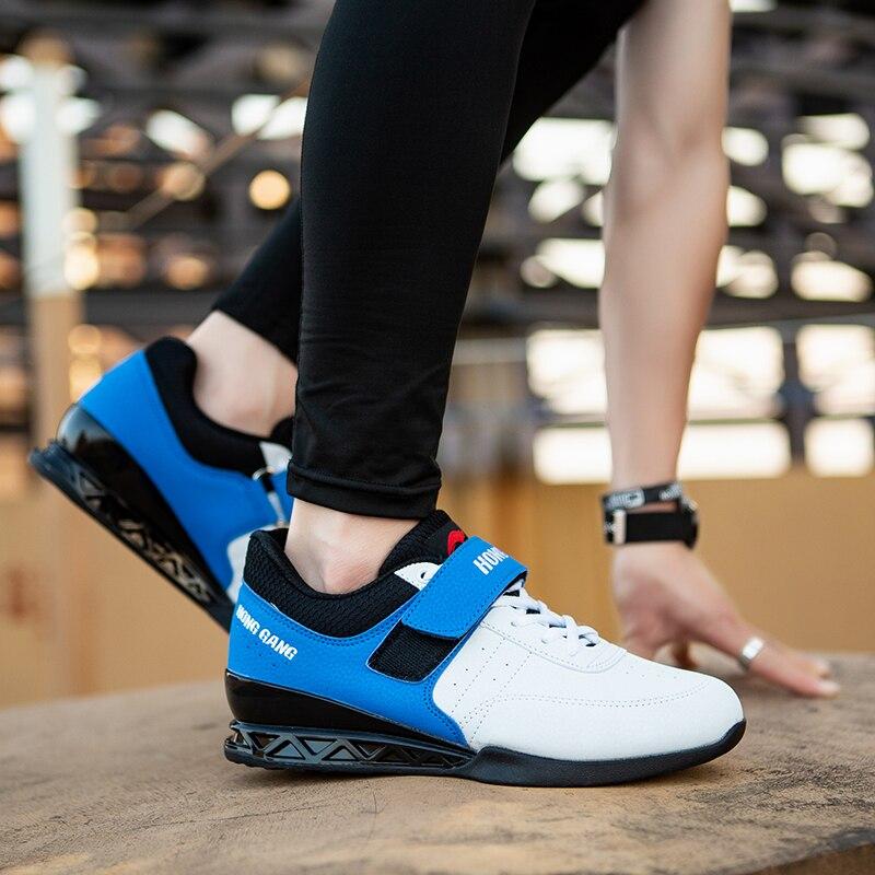 Agachamento sapatos barbell puxar duro sapatos de levantamento de peso ginásio formação puxar duro profissional indoor exercício tênis - 3