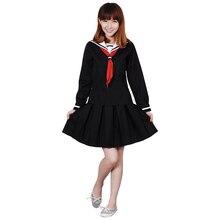 Hell Girl Cosplay Enma Ai Women's Dress School Uniforms Sailor Suits Summer Wear Costume printio ai enma hell girl