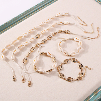 Women's Conch Shaped Multi-Layered Choker & Bracelet Jewelry Jewelry Sets Women Jewelry