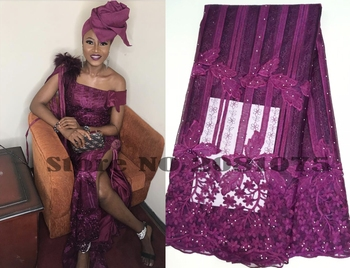 2019 Latest French Nigerian Laces Fabric High Quality Tulle African Laces Fabric Wedding African French Tulle Lace ZJ018