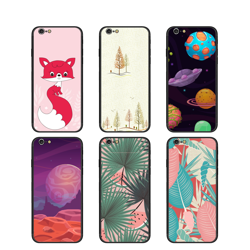 Phone Case For iPhone 6 6s Case Soft TPU+PC Silicone Cute Pattern Back Cover for iPhone X Ten Case for iphone 10 Cover Coque