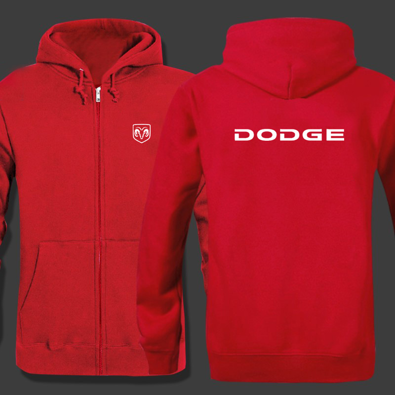Spring Cardigan Men Dodge logo zipper Hoodies Jacket Print Clothing Fashion Casual zipper Sweatshirt