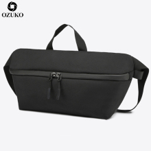 OZUKO New Fanny Pack Casual Waist Pack Men Messenger Bags Anti-theft Fashion Crossbody Shoulder Bags waterproof Travel Chest Bag
