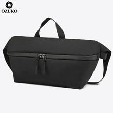OZUKO New Fanny Pack Casual Waist Men Messenger Bags Anti-theft Fashion Crossbody Shoulder waterproof Travel Chest Bag