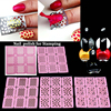 5pcs Specail Solid Nail Polish Vanish For Nail Art Stamping 5pcs Stamp Image Stickers Konad Nail