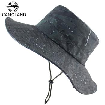 Mężczyźni kobiety Panama kapelusz wodoodporny kamuflaż Boonie czapki składany wiadro kapelusz na zewnątrz piesze wycieczki wędkowanie Safari ochrona przed promieniowaniem UV kapelusz słońce tanie i dobre opinie CAMOLAND Poliester Unisex Dla dorosłych Mieszkanie JBH632 Wiadro kapelusze Na co dzień Geometryczne Boonie Hats Bucket Hat