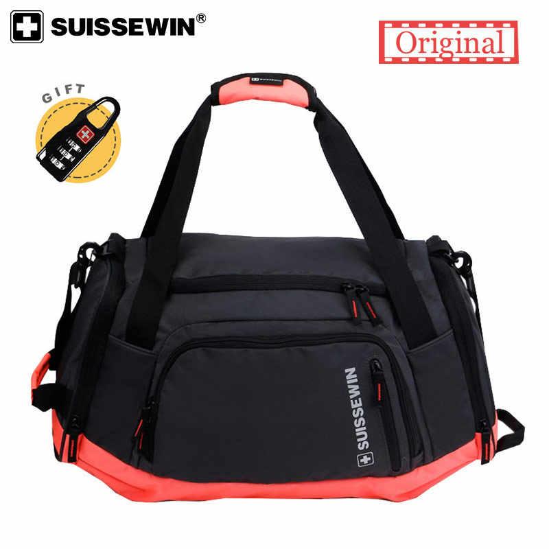 8a361ef6ab Suissewin Brand Girls Travel Tote Bag Women Men Big Shoulder Bag Large  Capacity Lightweight Pink