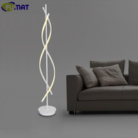 FUMAT Indoor Lighting Remote Control Floor Lamps Study Aluminum Floor Lamp LED Modern Stand Lamp Decorative Black White Light