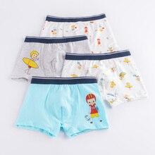 4 Pcs/Set Cotton Boys Underwear Kids Clothing Short Panties Cartoon Baby Briefs Boxer Underpants Toddler Boy
