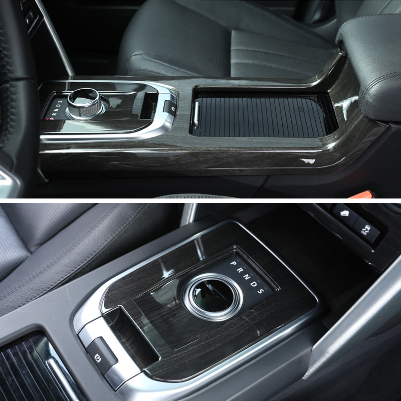 For Land Rover Discovery Sport 2015 2016 2017 Entire Console In Black Dark Ash Wood Grain ABS Chrome Trims Car Accessories