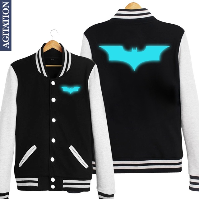 Batman Long Sleeve Baseball Jacket