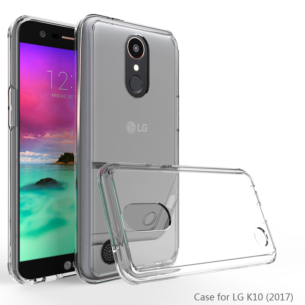 Slim Fit Soft TPU Frame Hard Acrylic Back Cases Shockproof Transparent Clear Phone Cover For LG K20 Plus/K20 V/LV5/K10 (2017) @