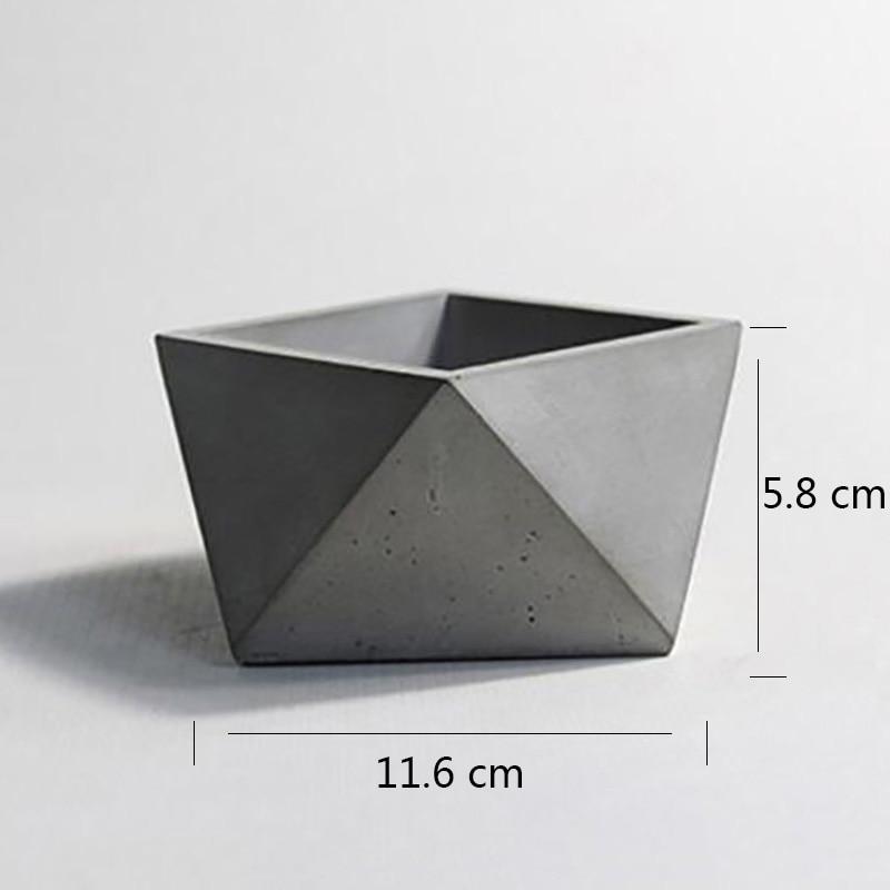 Molde de cemento de silicona de poliedro geométrico para hacer maceta de hormigón molde de fabricación de bonsái artesanal hecho a mano-in Moldes de arcilla from Hogar y Mascotas    3