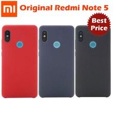 Funda Original Xiaomi Redmi note 5, versión Global, carcasa trasera dura de pc + tela, carcasa de fibra interna suave, funda Redmi note 5 pro
