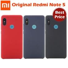 Original Xiaomi Redmi หมายเหตุ 5 กรณี Global Version note5 ฝาครอบด้านหลัง hard pc + ผ้านุ่มด้านในเส้นใย Redmi หมายเหตุ 5 กรณี pro