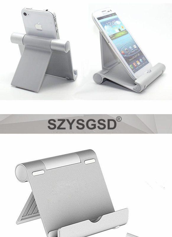 New Mobile Phone Tablet Stand Holder Aluminum Metal Dock Bracket for iPhone 7 iPad Tablet Kindle Ebook for Samsung S8 Plus