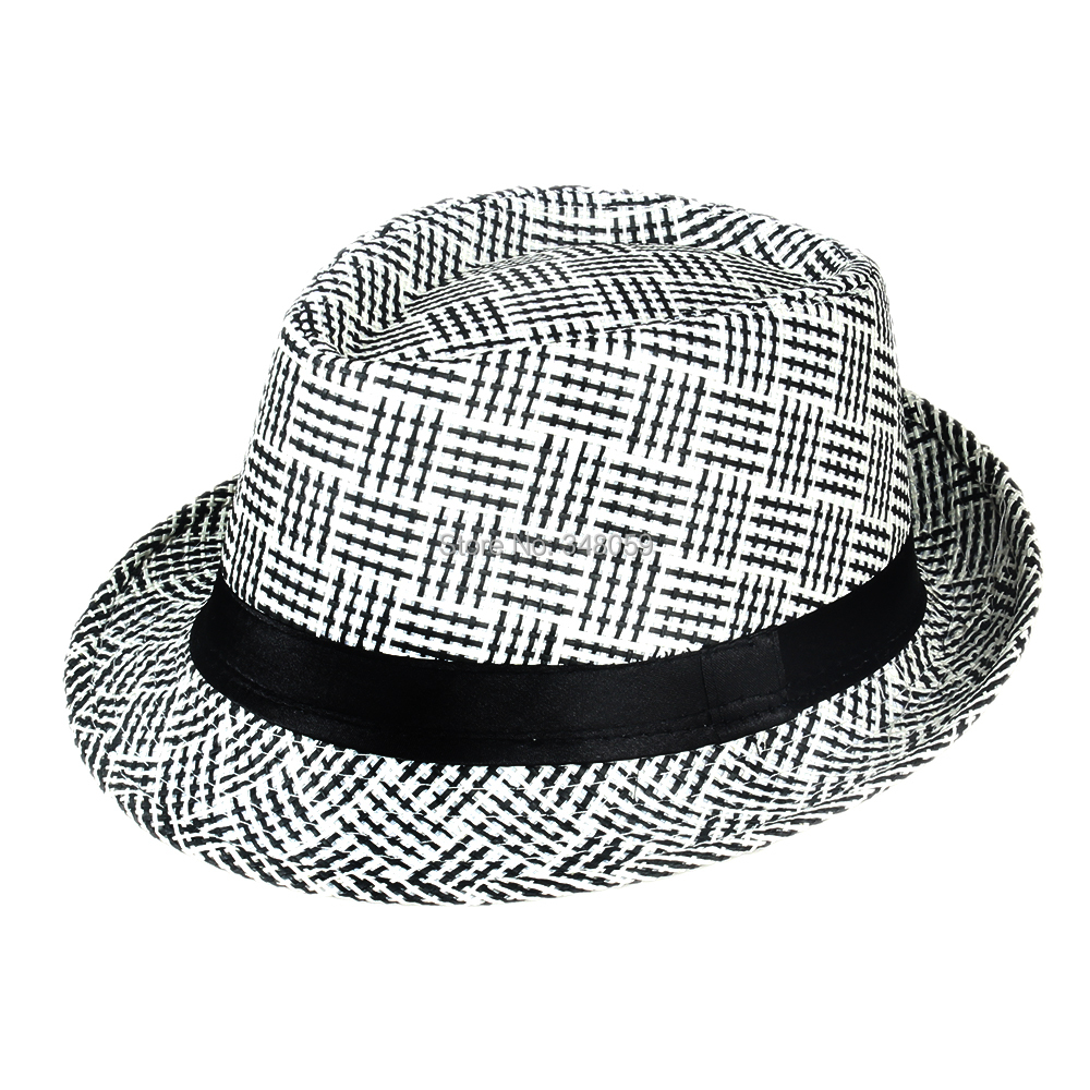 273e8008dcfe5 2015 Brand Men Straw Fedora hat Trilby Chapeu sombrero cowboy hat Bucket  Travel with Black Ribbon Band panama hat Men