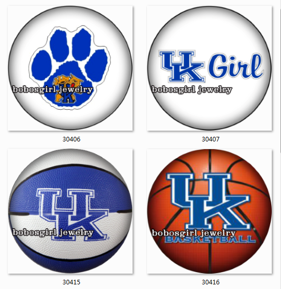 NCAA UK kentucky wildcats glass Snap button Jewelry Ginger Charm ...