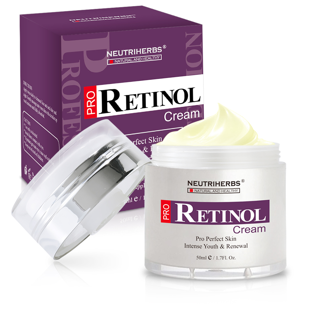 Neutriherbs Retinol Moisturizer Cream Vitamin A Vitamin E Collagen Cream for Face Facial Care 50g 1
