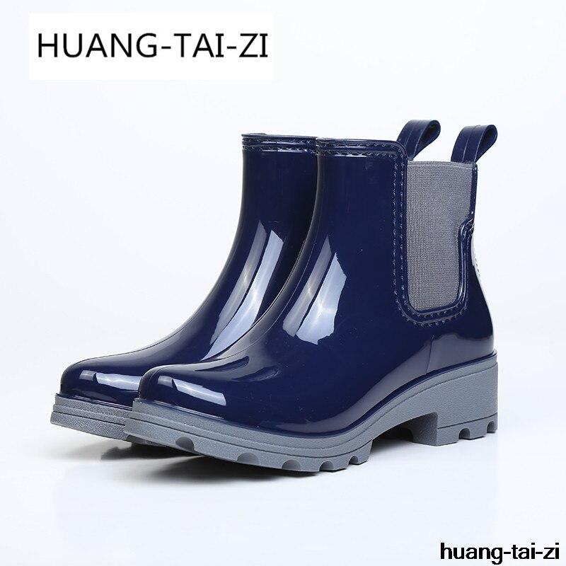 2d83ffc84 2018 Zapatos Pvc Goma R610w Botas Mujer Deslizamiento Plataforma 36 Boots  De Nuevo Shoes rain Boots Más 41 Rain Tamaño ...