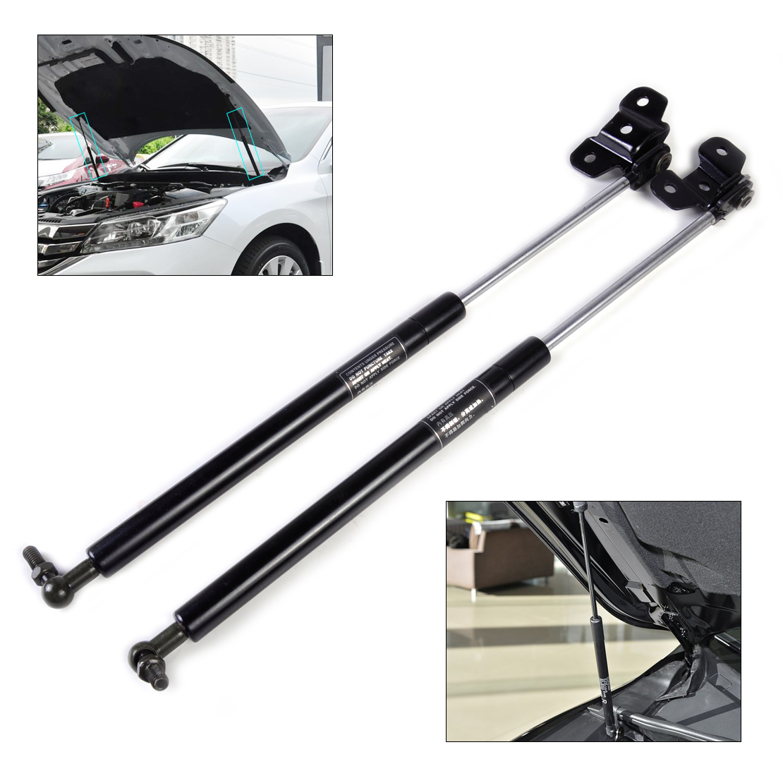 2 Front Hood Lift Supports Strut Gas Springs Fit Honda Accord 1998-02