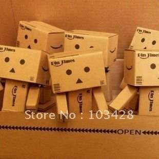With Track Number-Lovely Danboard Danbo Doll Mini Figure Toy Assembled Danbo Model Cute Cartoon Toy 8cm Height, Free Shipping