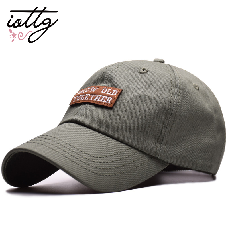 IOTTG Summer 2018 Brand Baseball Cap Cotton Men Cap Hats GROW Letters  Embroidery Cap Unisex Women Men Hats Snapback Casual Caps aa050c921846