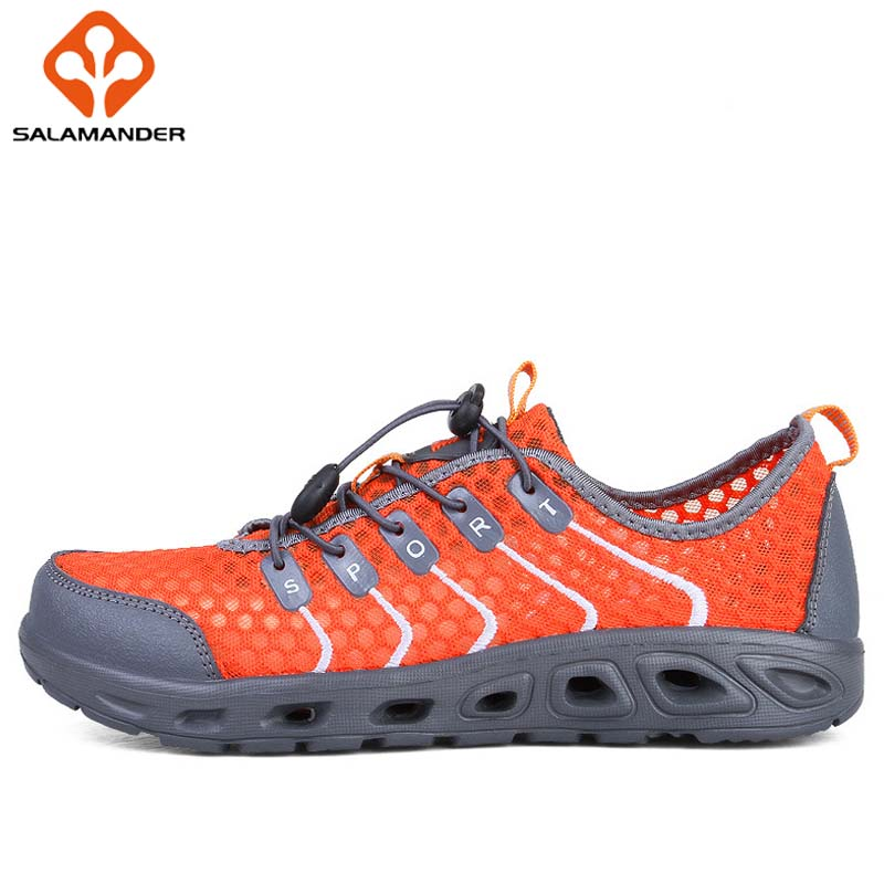 SALAMANDER Summer Aqua Shoes Men Hiking Shoes Upstream Wading Womens Sneakers Mountaineering Tactical Outdoor  Breathable Mesh 2017 clorts new upstream shoes for men breathable fast drying wading sneakers outdoor shoes 3h023c