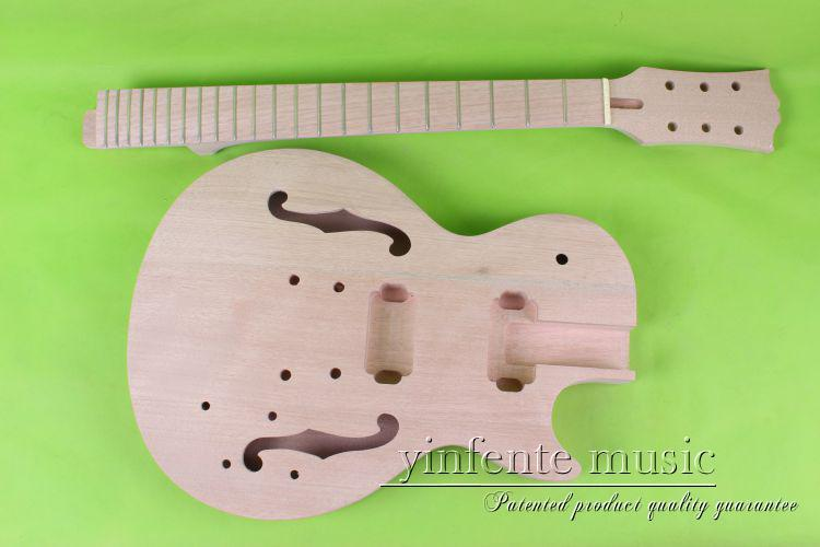 купить one 045# unfinished  electric guitar body  and neck  mahogany made дешево