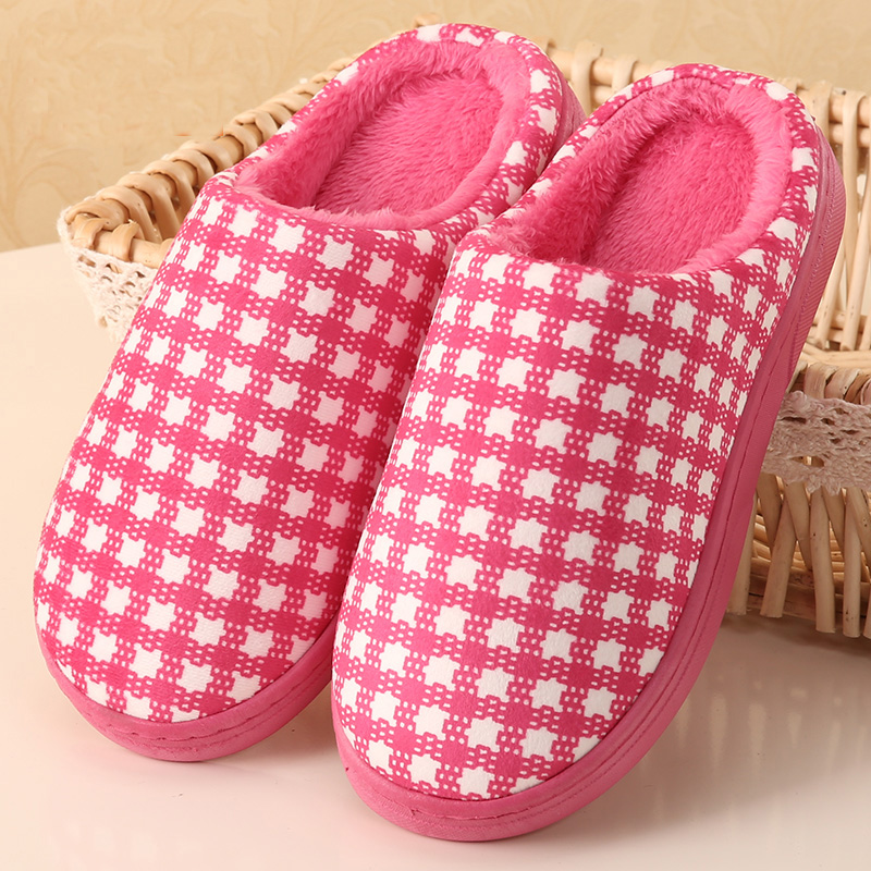 Winter Household Cotton Slippers Men and Women Lovers Indoor Anti-slip Slippers At Home