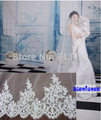 NEW mantilla bridal wedding veil cathedral Alencon Lace Sequins free shipping