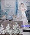 NOVO mantilha de noiva véu do casamento catedral Alençon Rendas Lantejoulas frete grátis