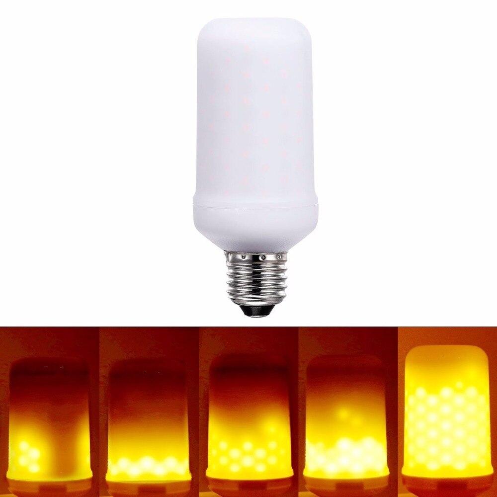 BEILAI 3528SMD E26 E27 LED Lamp 220V 110V Flame Effect Fire Light Bulbs 6W 3 modes 85-265V Flickering Emulation Decorative Lamps чистый белый автомобиль h3 3528 smd 26 led head противотуманные фары фара электрической лампочки