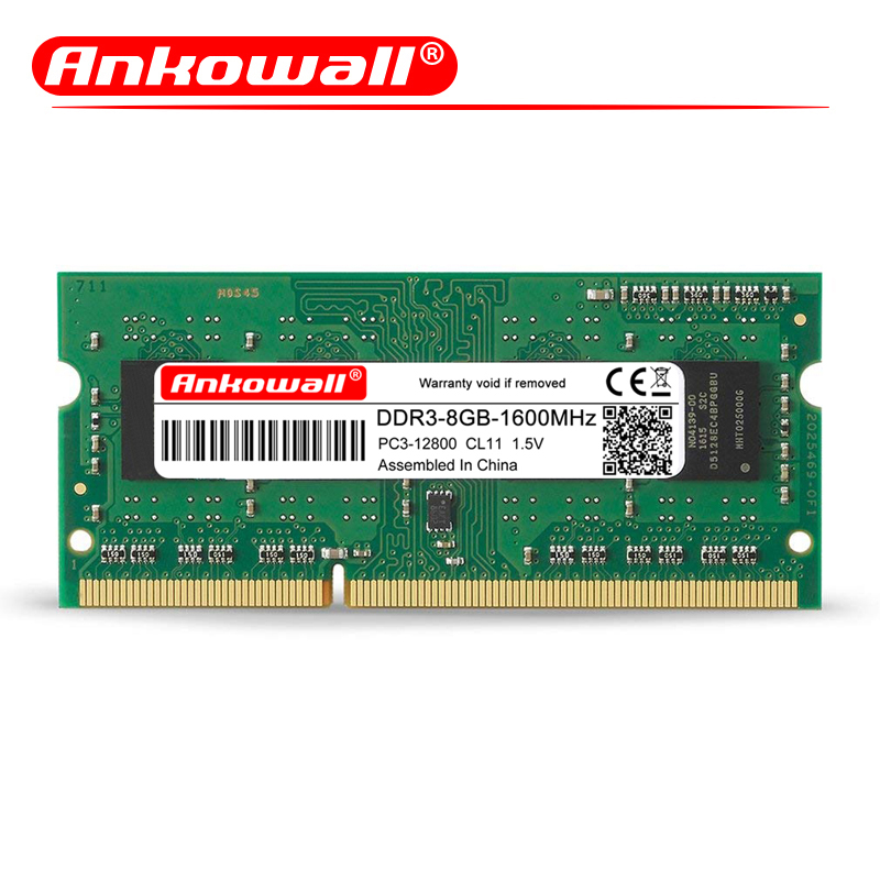 ANKOWALL DDR3 2GB/4GB/8GB Laptop RAM Memory with 1333MHz/1600MHz Memory Speed 3