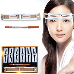 Golden Ratio Measure Microblading Eyebrow Stencil Models Shaping Permanent Makeup Tattoo Design Calipers Stencil Eyebrow Ruler