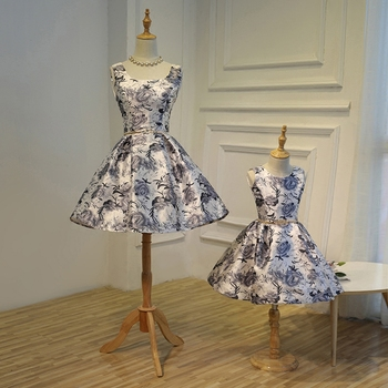 Mother Daughter Wedding Elegant Dresses for Girls Wedding Party Evening Dress Family Matching Outfits Clothes Flower Tutu Skirt