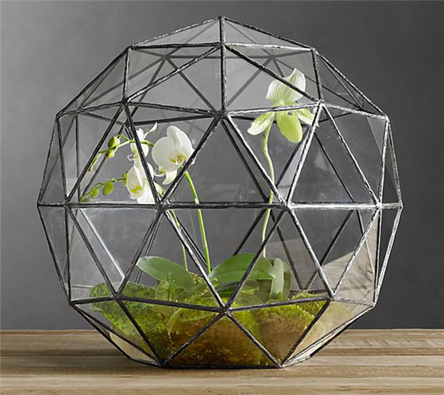 Геометрические стекла террариумы для дома/офиса/свадебные украшения, Творческий геодезический купол террариумы для растений/суккуленты/цветы