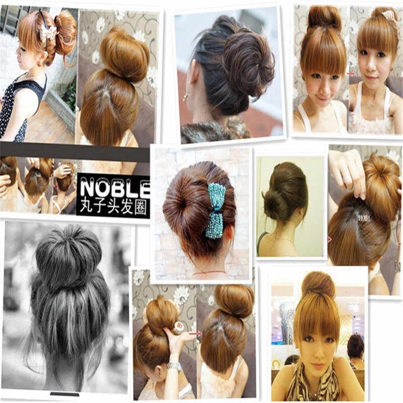 Women Lady Girl Headband Hair Styling Ring Style Dispenser Buns Head Tool Hair Ring for Women Hair Accessories Hairband