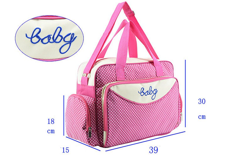 MOTOHOOD Baby Diaper Bag Organizer Baby Care Carriage Bag For Stroller Fashion Dot Multifunction Baby Bags For Mom 451530cm (5)