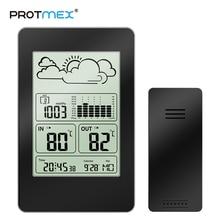 PROTMEX hava durumlu saat PT3363 Hava in & Outdoor Tahmini Istasyonu çalar saat Takvim/Sıcaklık/Basınç