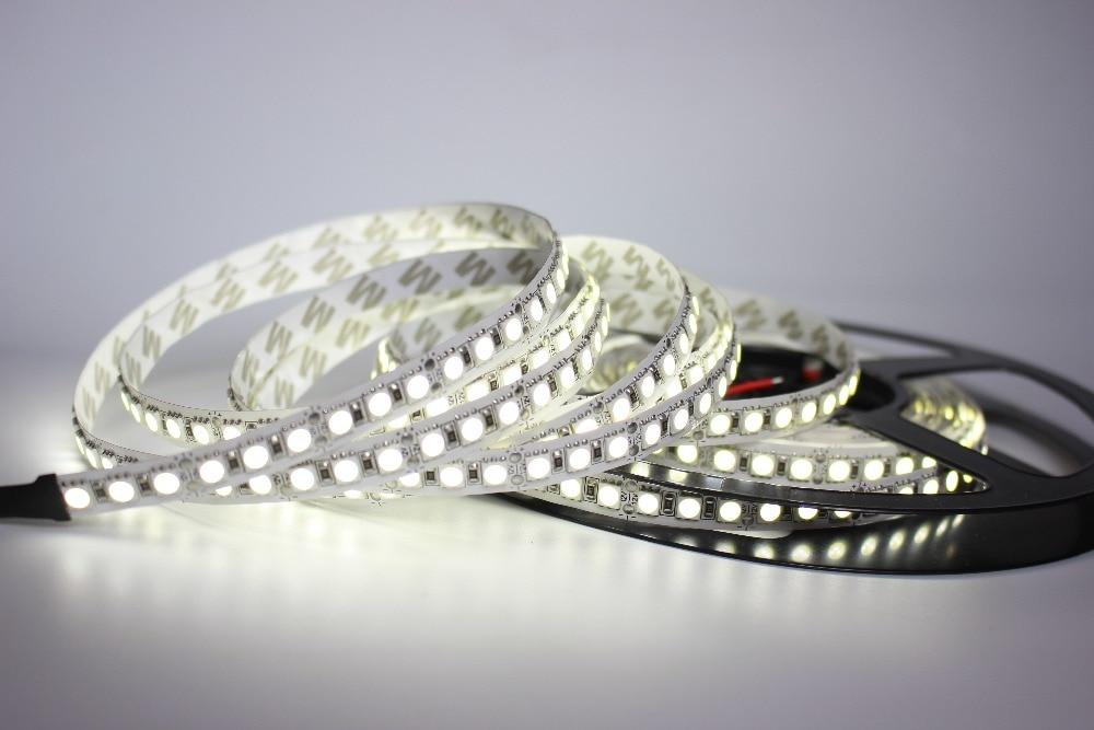 Image 2 - 1/2/3/4/5M LED Strip 5050 DC12V 120LEDs/m  Flexible LED Strip tape Lighting  RGB /Warm white/White 5050 LED  high brightness-in LED Strips from Lights & Lighting