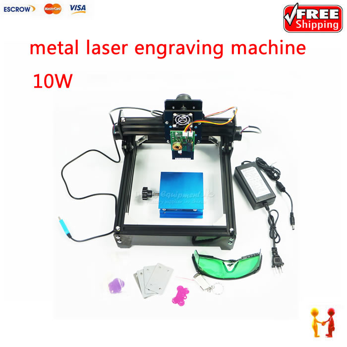 Hot sale 10000MW laser engraver for metals, 10W 14*20cm metal engraving cutting machine for iron, ceramic, aluminum hot hot chinese and cost effective laser machine 600x900mm unich stone laser engraving machine
