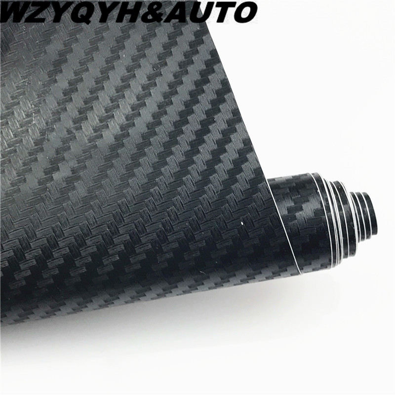 30cmx127cm 3D Carbon Fiber Vinyl Car Wrap Sheet Roll Film Car Stickers And Decals Motorcycle Car styling Accessories automobiles 3d white carbon fiber texture vinyl wrap sticker decal film air release car wrapping size 1 52x30m roll