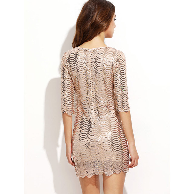 VeryYu Sequin Bodycon Dress Dresses Fashion  VerYYu