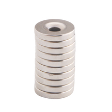 цена на 10pcs 15 x 3mm N52 NdFeB Strong Round Neodymium Rare Earth Magnets Disc w/Hole