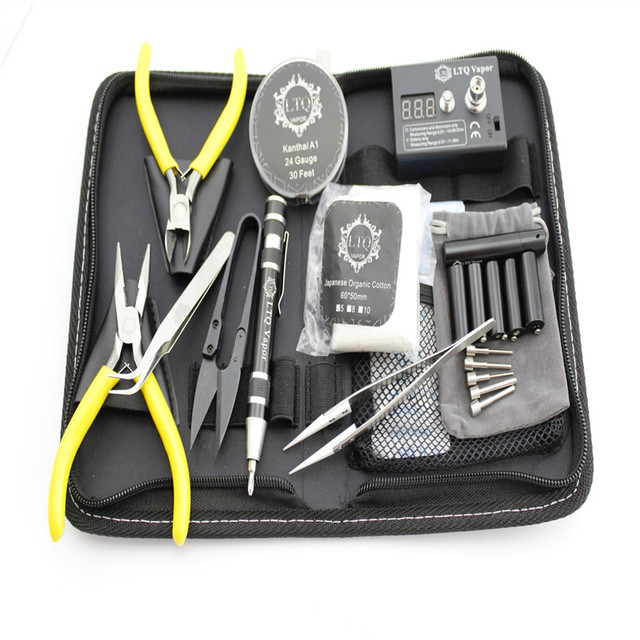 TOP best selling 10pcs/set Complete kit diy master tool coil winder ceramic tweezer Coil jig kit Concepts atomizer coil XSE26